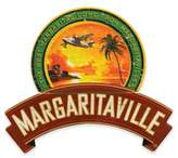 Margaritaville Plane and Palm Sign in Red/Green/Orange