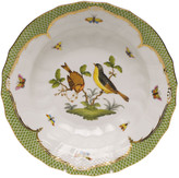 Herend Rothschild Bird Green Motif 07 Rim Soup Bowl
