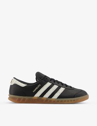 adidas Hamburg leather trainers