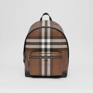 Burberry Check E-canvas Backpack