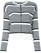 Twin-Set striped ruffle cardigan