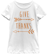 Fifth Sun White 'Give Thanks' Fitted Tee - Girls
