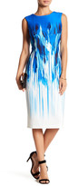 Gabby Skye Paintbrush Print Scuba Dress