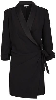 Frame Self-Tie Wrap Dress