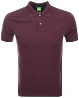 BOSS GREEN C Firenze Polo T Shirt Burgundy