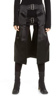 Comme des Garcons Harness Detail Open Satin Skirt