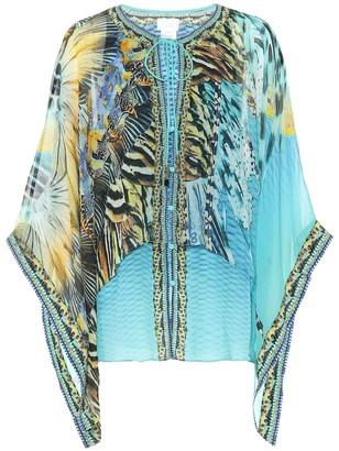 Camilla Printed silk blouse