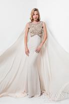 Terani Evening - Reigning Beaded Bateau Neck Mermaid Dress 1713M3460