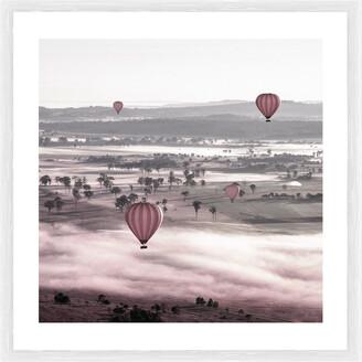 Cooper Black Balloon Ride Photographic Framed Print
