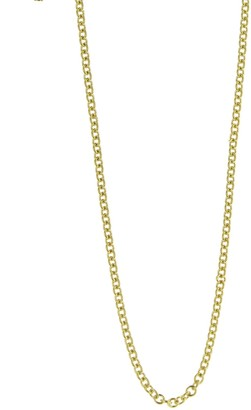 Azlee 20 Inch Thin Cable Chain Yellow Gold Necklace
