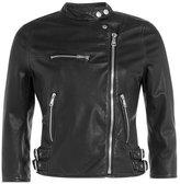 Dolce & Gabbana Cropped Leather Biker Jacket