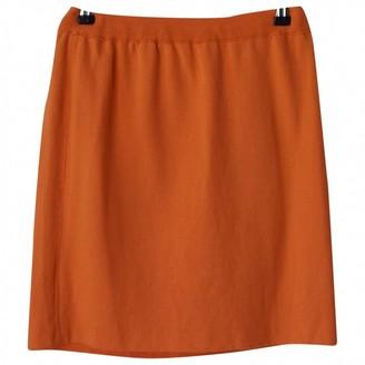 Escada Orange Wool Skirt for Women Vintage