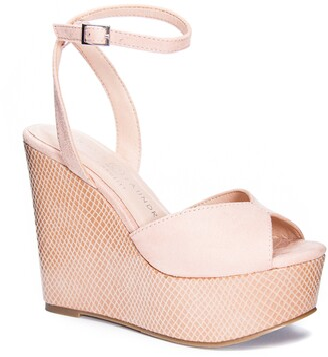 Chinese Laundry Ellia Ankle Strap Platform Wedge Sandal