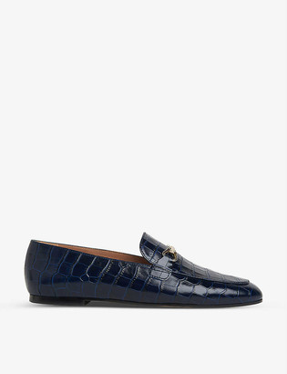 LK Bennett Marina croc-embossed leather loafers