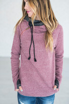 Ampersand Avenue Double Hooded Sweatshirt - Blended Berry