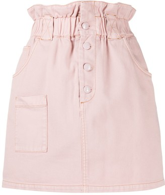 Fendi High-Waist Denim Skirt