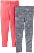 Carter's 2 Pack Leggings (Baby) - Red/Gray-6 Months