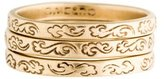 Me & Ro Me&Ro 10K Engraved Stackable Ring Set