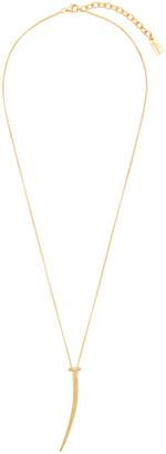 Saint Laurent Gold Nail Pendant Necklace
