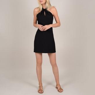 Molly Bracken Short Halterneck Bodycon Dress with Laced Open Back