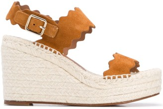 Chloé Lauren espadrille wedge sandals