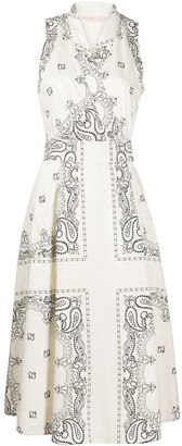 Tory Burch Bandana-Print Wrap Dress