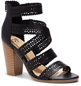 New York & Co. Perforated Stacked-Heel Sandal