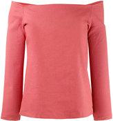 Theory off-shoulder blouse - women - Linen/Flax/Spandex/Elastane/Viscose - XS