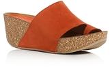 Donald J Pliner Ginie Nubuck Leather Platform Wedge Sandals