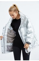 adidas by Stella McCartney Wintersport Silver Metallic Jacket