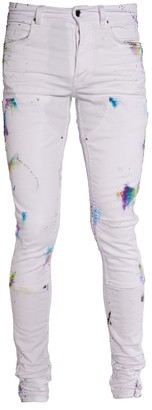 Amiri Painter Workman Skinny Jeans White