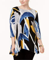 Alfani Plus Size Printed Swing Tunic, Created for Macy's
