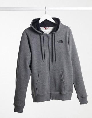 The North Face Open Gate full zip hoodie in gray