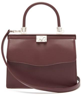 Rodo Paris Medium Leather Bag - Womens - Burgundy