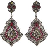 Sevan Biçakci Scroll Sheild Ruby And Diamond Earrings