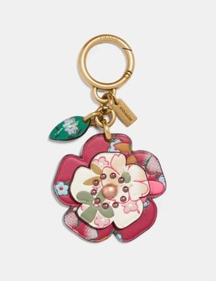 Coach Tea Rose Bag Charm With Multi Floral Print