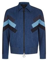 Neil Barrett Denim Patchwork Bomber Jacket