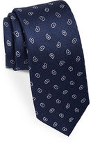 Black Brown 1826 Silk Melange Paisley Tie