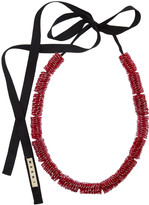 Marni Lanyward-effect woven necklace