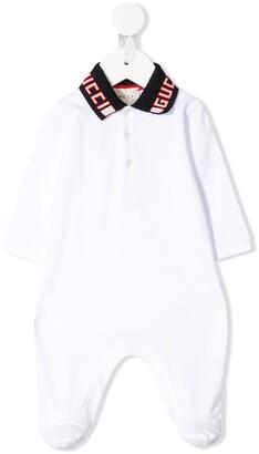 Gucci Kids logo collar pyjamas