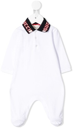 Gucci Kids Logo Collar Pyjamas