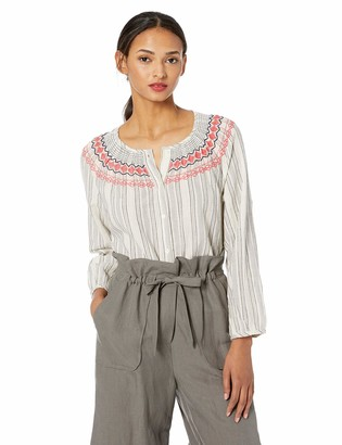 Lucky Brand Women's Smocked Peasant Shirt