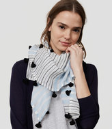 LOFT Striped Square Tassel Scarf