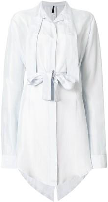 Unravel Project Draped Shirt Dress