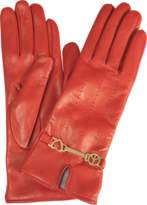 Moschino Peace & Love leather gloves