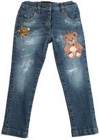 Dolce & Gabbana Embroidered Stretch Denim Jeans