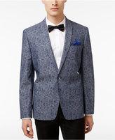 Ben Sherman Men's Slim-Fit Blue and Gray Paisley Cotton Dinner Jacket