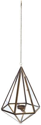 Nkuku Mokomo Hanging Lantern - Antique Brass - Large