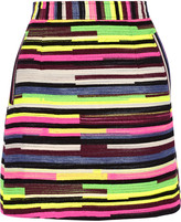 House of Holland Gina striped jacquard mini skirt