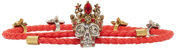 Alexander McQueen Red Queen Friendship Bracelet